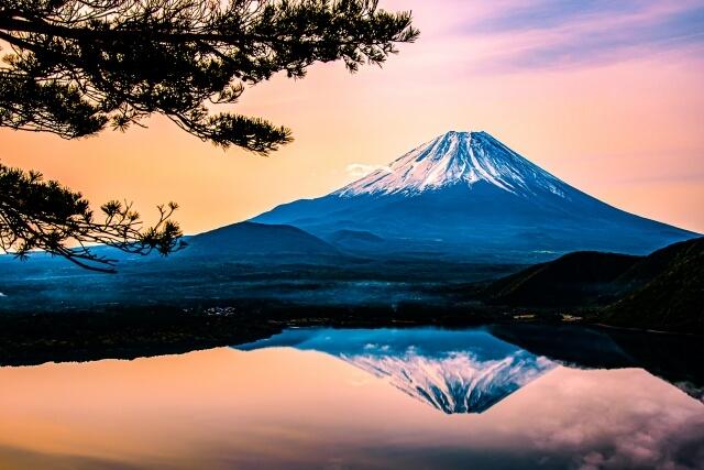 富士山と逆さ富士