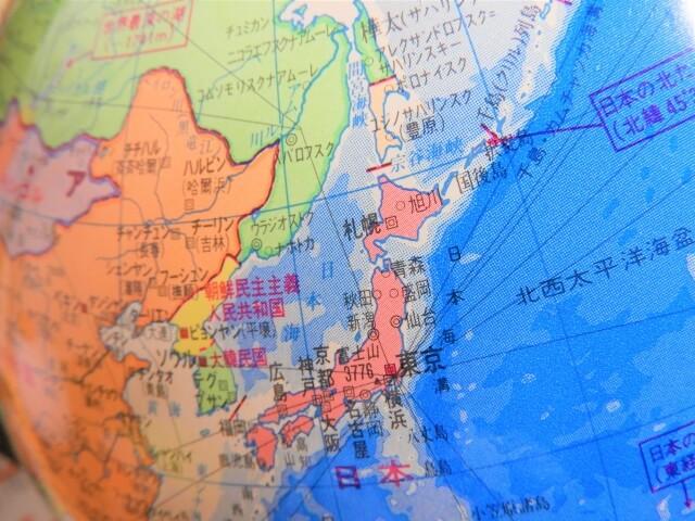 日本周辺の地図