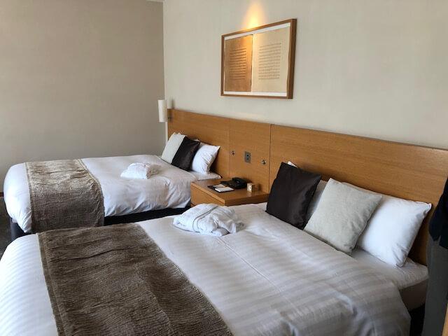 箱根比類の室内ベッド側