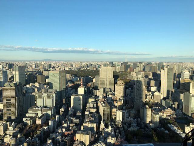 リッツ・カールトン東京客室からの眺望