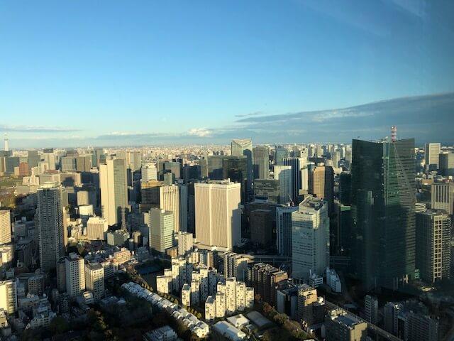 リッツ・カールトン東京客室窓からの眺望