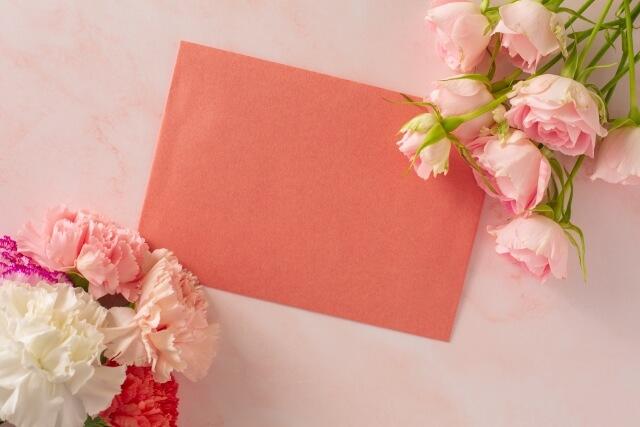 母の日のメッセージカード